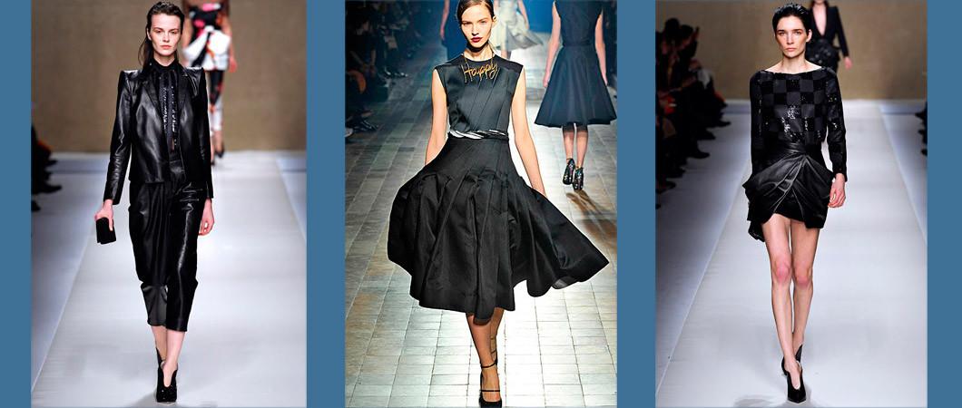 Черный цвет в одежде: коллекции 2016-2017 Max Mara, Burberry и др