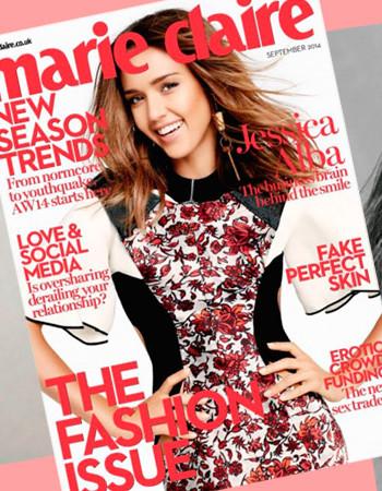 Джессика Альба осенью 2020 в журнале Marie Claire