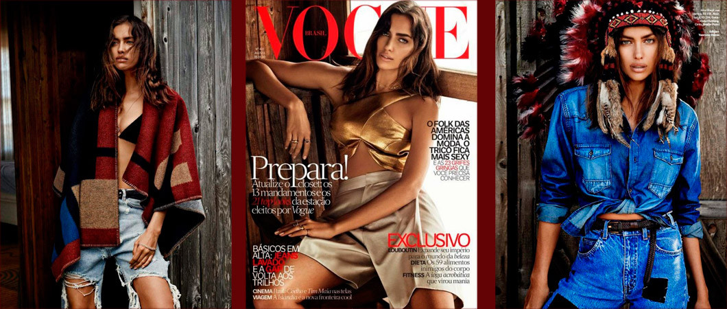 Ирина Шейк для журнала Vogue (фото 2018)