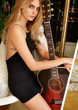 Кара Делевинь в рекламе Top Shop