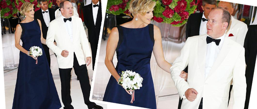 Княгиня Шарлен и князь Альберт ІІ Монако на Балу Красного креста