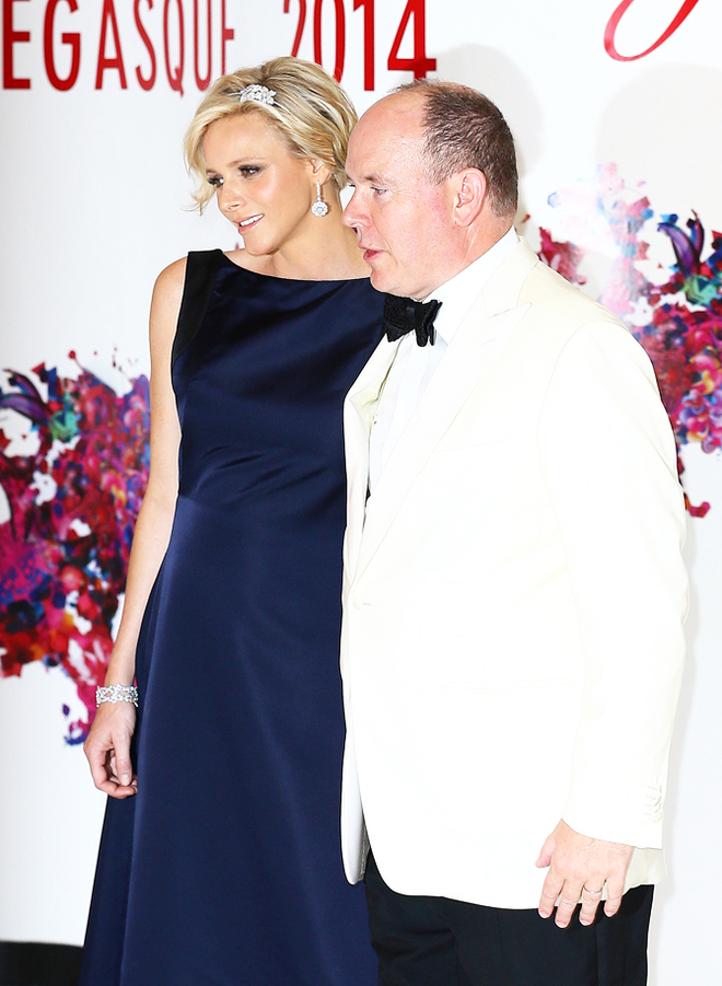 Princess Charlene and Prince Albert at 66th Monaco Red Cross Ball Gala