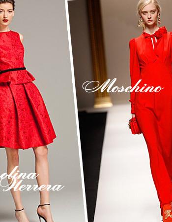 Красный цвет в одежде: тенденции и фото из коллекций 2017-2018 года