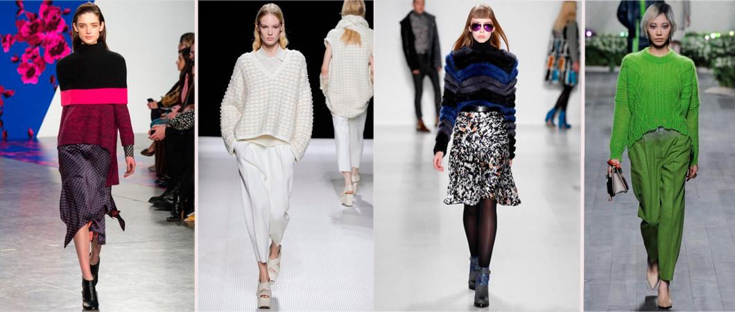 Модные женские свитера, пуловеры: фото обзор зима осень 2020