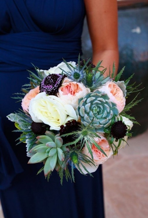 оригинальные свадебные букеты фото 12