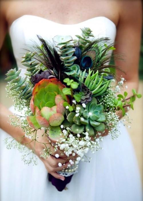 оригинальные свадебные букеты фото 14