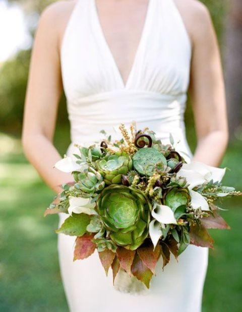 оригинальные свадебные букеты фото 37