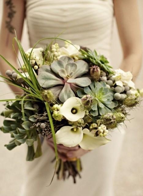 оригинальные свадебные букеты фото 4