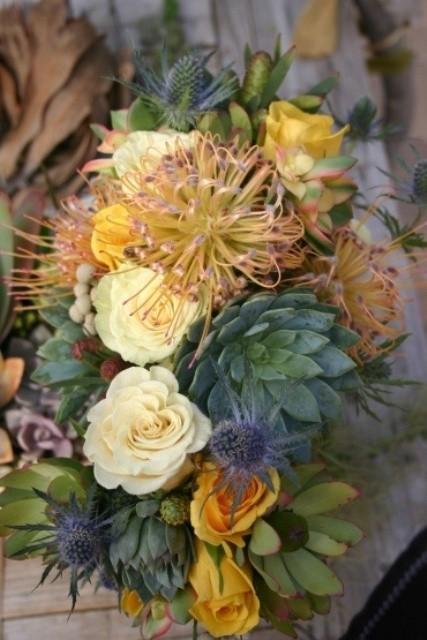 оригинальные свадебные букеты фото 8