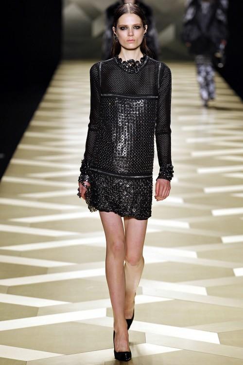 короткое черное платье  Roberto Cavalli