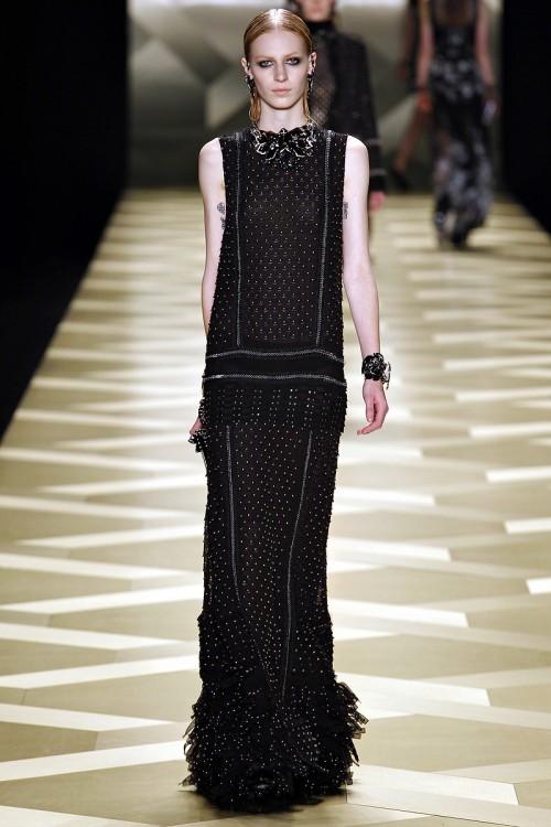 черное платье в пол   Roberto Cavalli