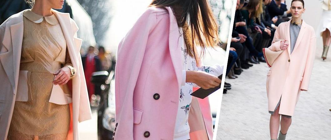 Многоликое розовое пальто (12 фото)