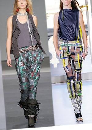шелковые брюки из шелка