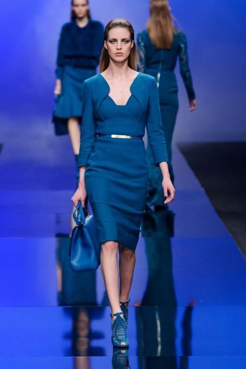сочетание синего цвета в одежде Elie Saab фото 2