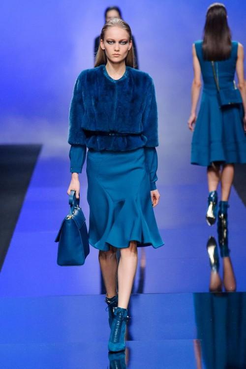 сочетание синего цвета в одежде Elie Saab фото 3