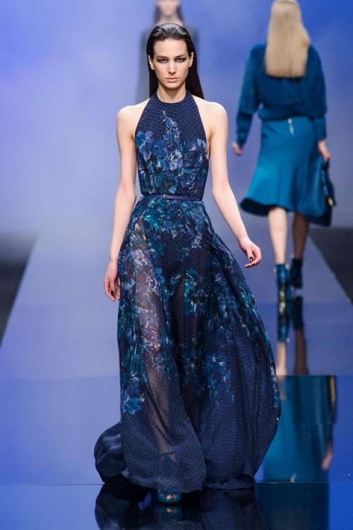 сочетание синего цвета в одежде Elie Saab фото 5
