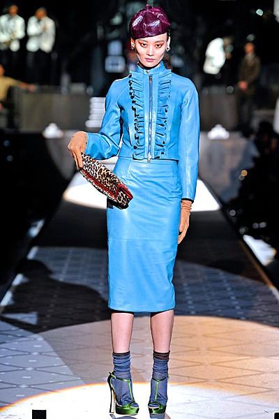 сочетание синего цвета в одежде Dsquared2