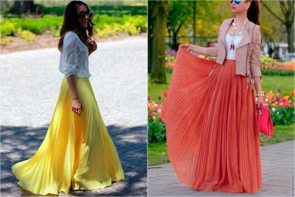 желтая длинная юбка в пол