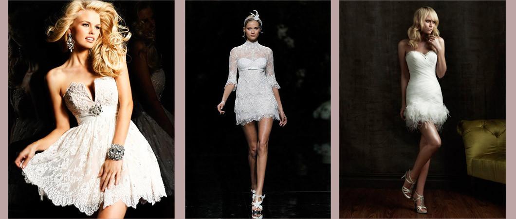 Модные короткие свадебные платья: коллекции дизайнеров 2020 года (35 фото)