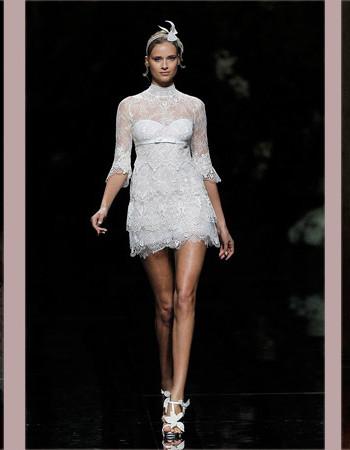 Модные короткие свадебные платья: коллекции дизайнеров 2017 года (35 фото)