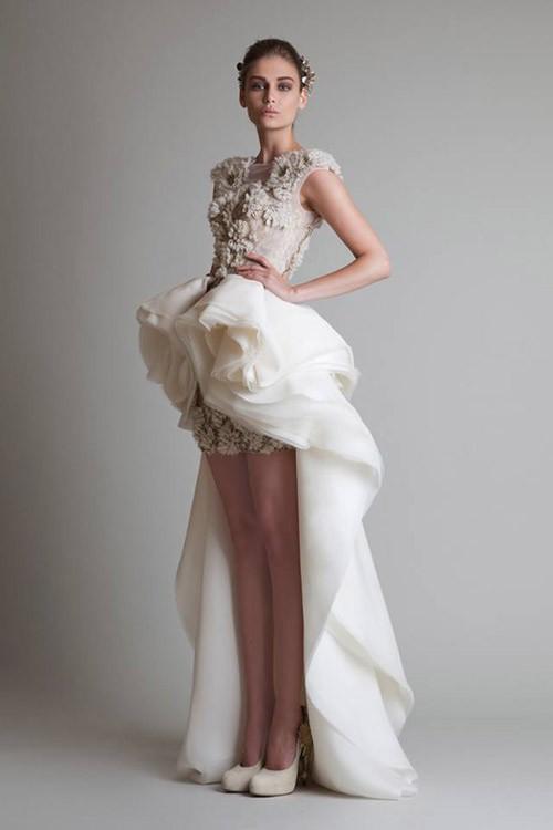 короткое свадебное платье: коллекция 2018 фото 18