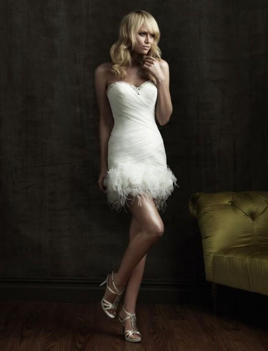 кружевное короткое свадебное платье: коллекция 2018 фото 22