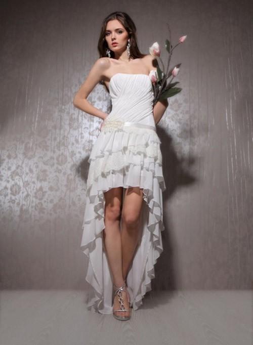 короткое свадебное платье: коллекция 2018 фото 6