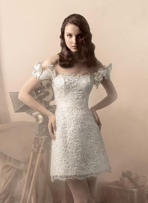 короткое свадебное платье: коллекция 2018 фото 11