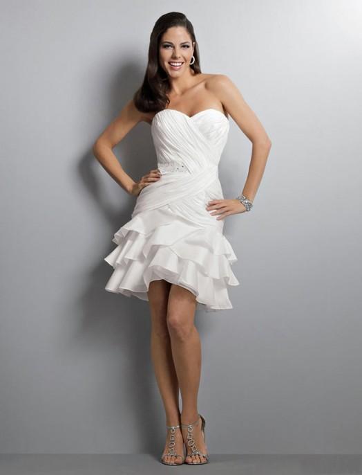 короткое свадебное платье: коллекция 2018 фото 3
