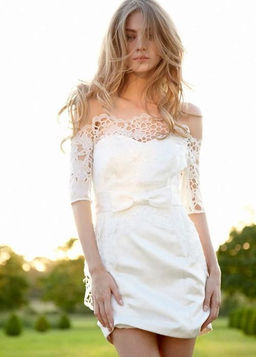 короткое свадебное платье: коллекция 2018 фото 13
