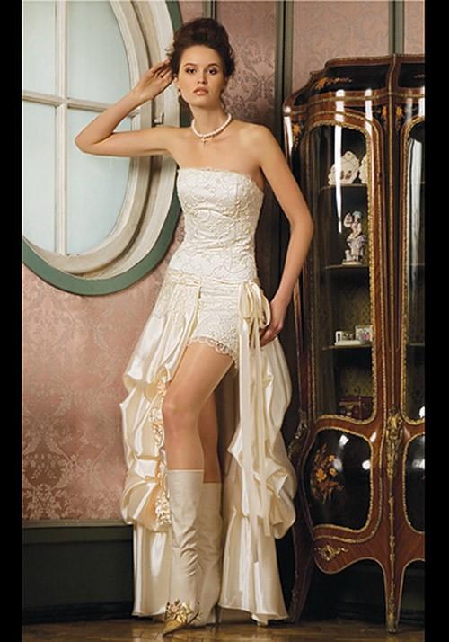 короткое свадебное платье: коллекция 2018 фото 8