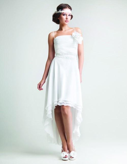 кружевное короткое свадебное платье: коллекция 2018 фото 31