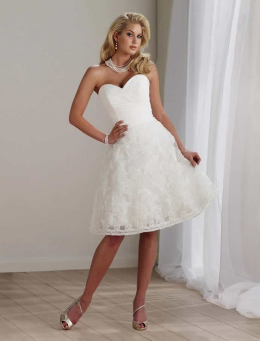короткое свадебное платье: коллекция 2018 фото 14