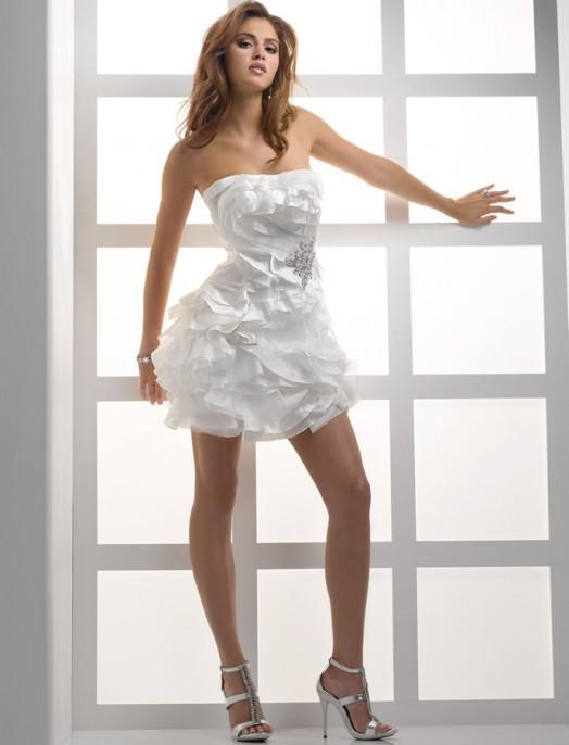 короткое свадебное платье: коллекция 2018 фото 2