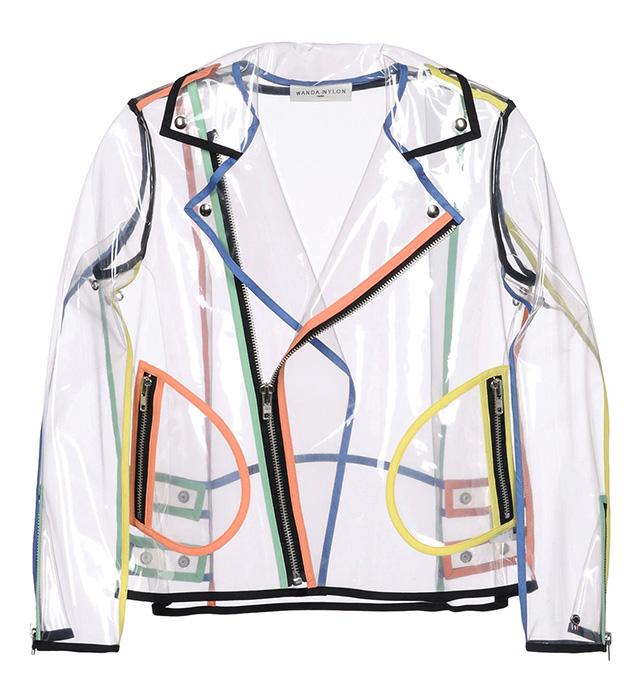 модный прозрачный дождевик