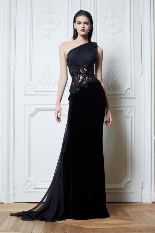 вечернее черное платье Zuhair Murad