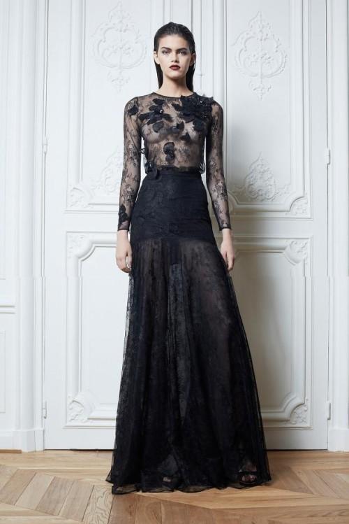черный цвет в одежде коллекция Zuhair Murad
