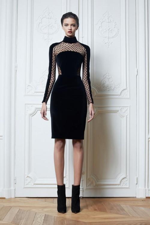 короткое черно платье Zuhair Murad
