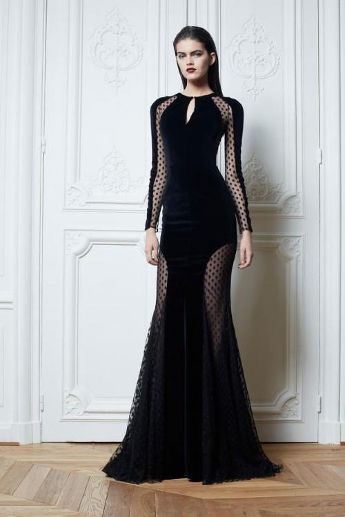 платье Zuhair Murad черного цвета