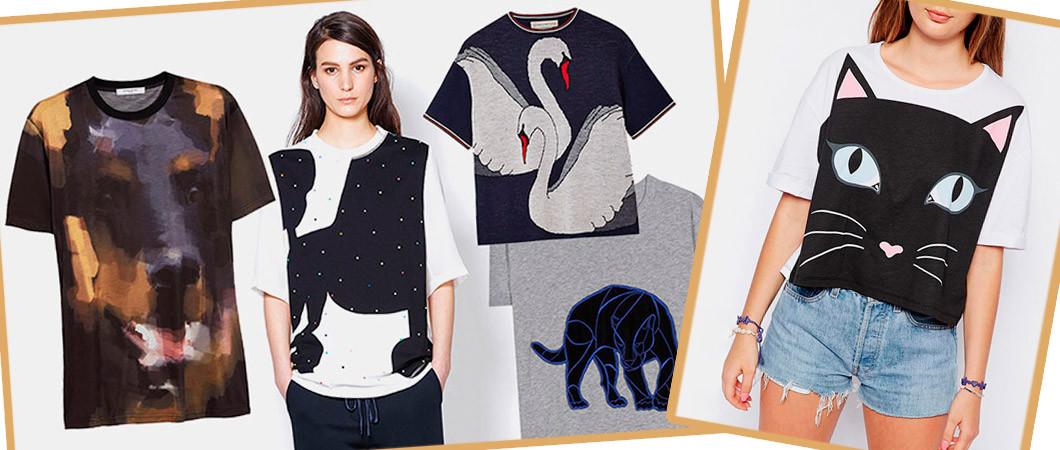 Модные женские футболки: животные принты в 2018