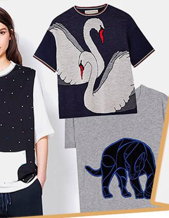 Модные женские футболки: животные принты в 2017