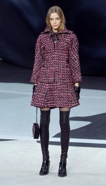 короткое пальто Chanel