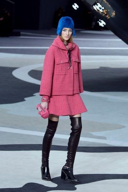 розовое пальто Chanel