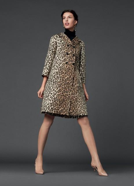 леопардовый принт -  пальто Dolce&Gabbana