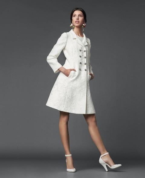 белое пальто Dolce&Gabbana