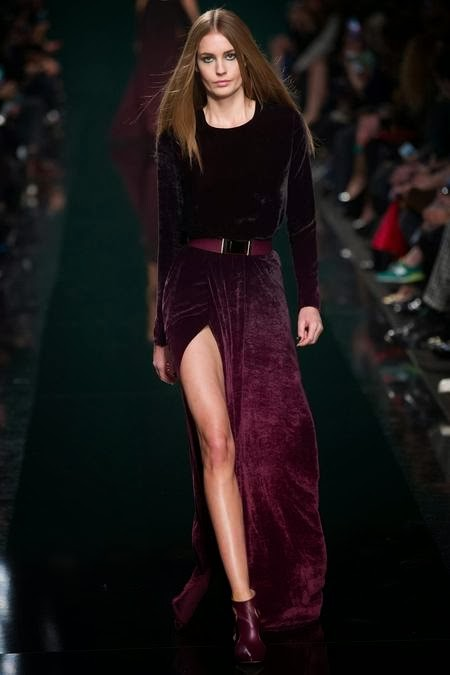длинное бархатное фиолетовое платье