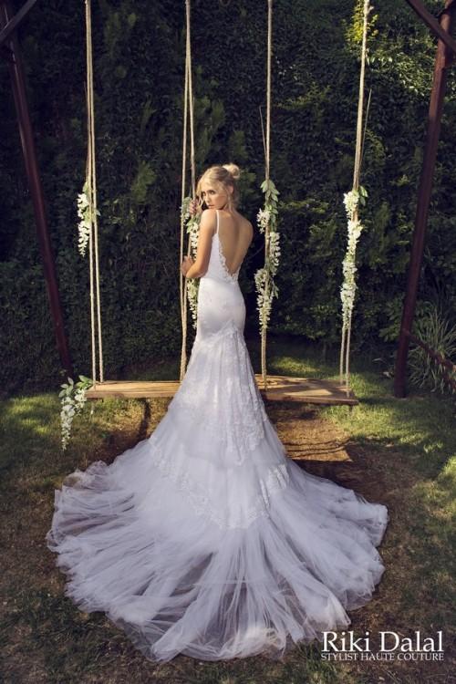 кружевное свадебное платье Riki Dalal фото 9