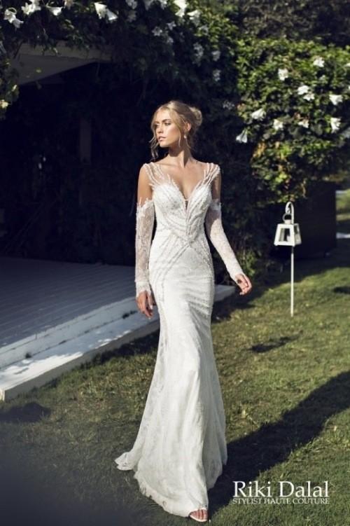 кружевное свадебное платье Riki Dalal фото 4