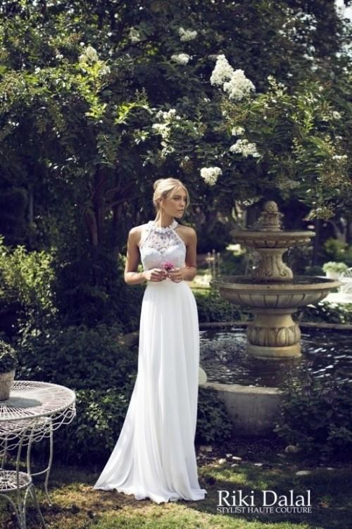 кружевное свадебное платье Riki Dalal фото 6