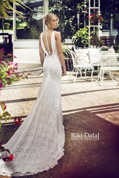 кружевное свадебное платье Riki Dalal фото 1